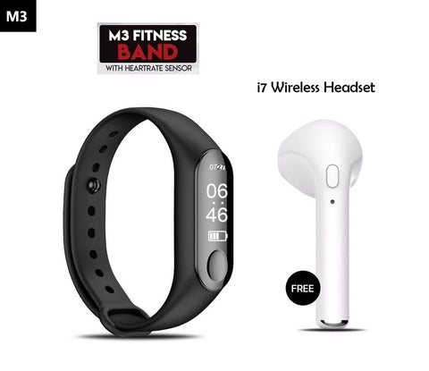 Mi Plus M3 Smart Fitness Band With Bluetooth Headset