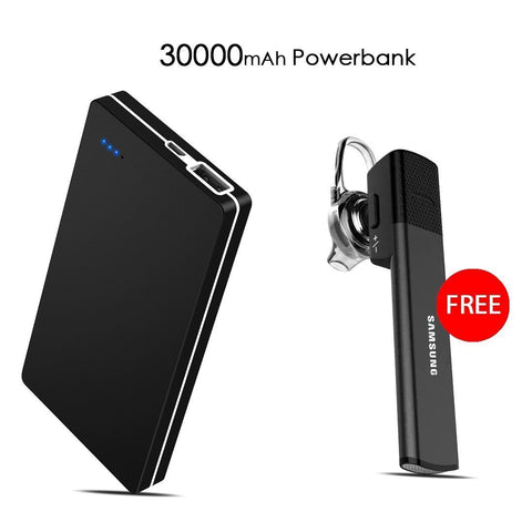 Buy Online 30000mAH Branded Power Bank & Get  Samsung Bluetooth Free