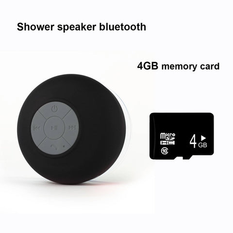 Shower Bluetooth Speaker And 4GB Memory Card