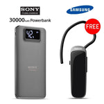Buy 30000mAH Power Bank with Free  Bluetooth