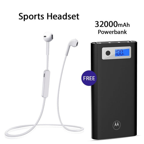 Buy Sports Headset With Free 32000mAh Motorola Power Bank