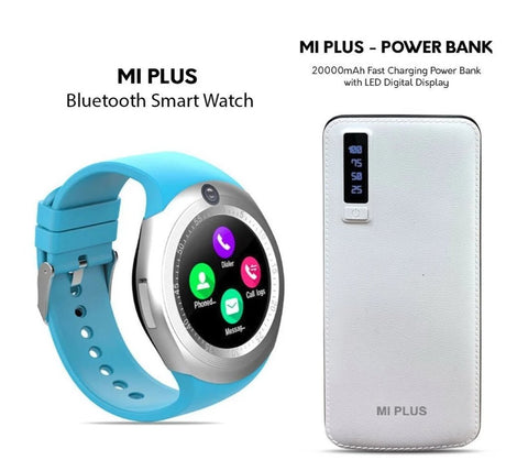 MI Plus Bluetooth Watch + Power Bank