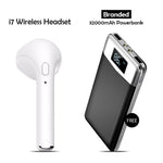 I7 Wireless Headset With Free Branded 32000mAh Power Bank