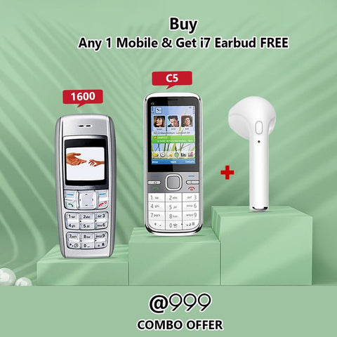 Any One Mobile Phone( 1600, C5-03) With I7 Bluetooth Headset