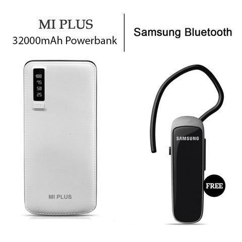 Mi Plus 32000 mAh Powerbank with Bluetooth Headset Free