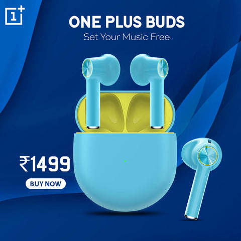 OnePlus Buds Bluetooth Headset (Nord Blue, True Wireless)