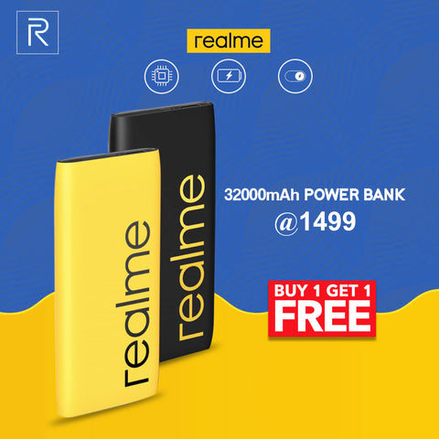 Buy 1 Get 1 Realme 32000 mAh Powerbank Free