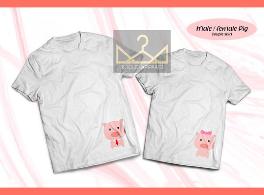 Male / Female Pig Couple Shirt