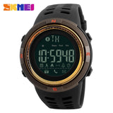 New Bluetooth Smart Watch Skmei Brand For Apple Ios Android Digital Smartwatch 50M Waterproof Fashion Pedometer Sport Watches - Brown Gold -