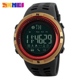 New Bluetooth Smart Watch Skmei Brand For Apple Ios Android Digital Smartwatch 50M Waterproof Fashion Pedometer Sport Watches - Gold Red -