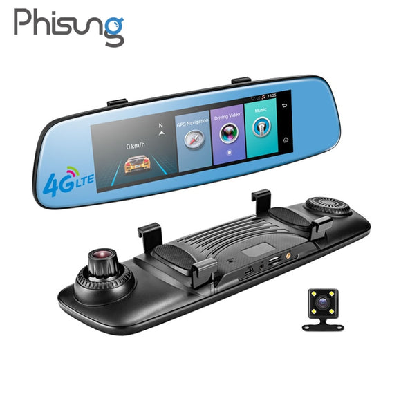 Car Dvr 7.84 Touch Adas Remote Monitor Rear View Mirror With Dvr And Camera 1080P - Camera