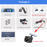Car Dvr 7.84 Touch Adas Remote Monitor Rear View Mirror With Dvr And Camera 1080P - 16Gb Card / Package A E06 - Camera