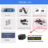 Car Dvr 7.84 Touch Adas Remote Monitor Rear View Mirror With Dvr And Camera 1080P - 16Gb Card / Package B E06 - Camera