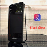 Luxury Tempered Glass And Ultra Magnetic Phone Case For Iphone 6 To Xs - Full Black / For Iphone 7 8 - Phone Case