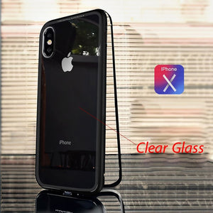 Luxury Tempered Glass And Ultra Magnetic Phone Case For Iphone 6 To Xs - Phone Case
