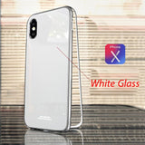 Luxury Tempered Glass And Ultra Magnetic Phone Case For Iphone 6 To Xs - Full Silver / For Iphone 7 8 - Phone Case