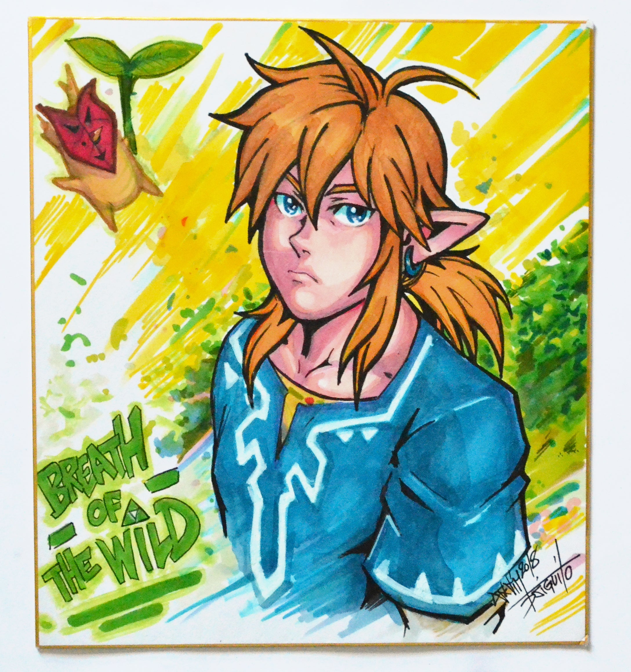 The Legend Of Zelda Shikishi Original by Djiguito