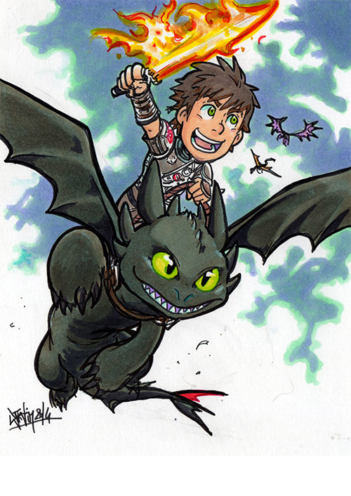 How to Train Dragons 2 by Djiguito