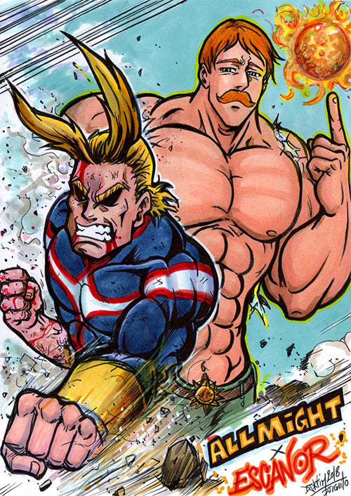 Allmight X Escanor by Djiguito