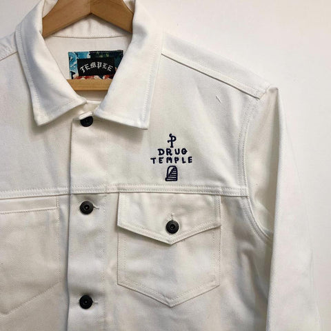 Drug Temple White Denim Jacket
