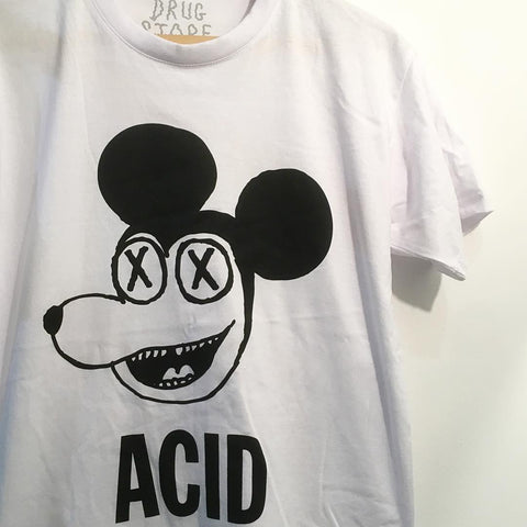 Drug Store White Acid Mouse T-Shirt