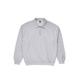 polar collar zip sweatshirt sport grey
