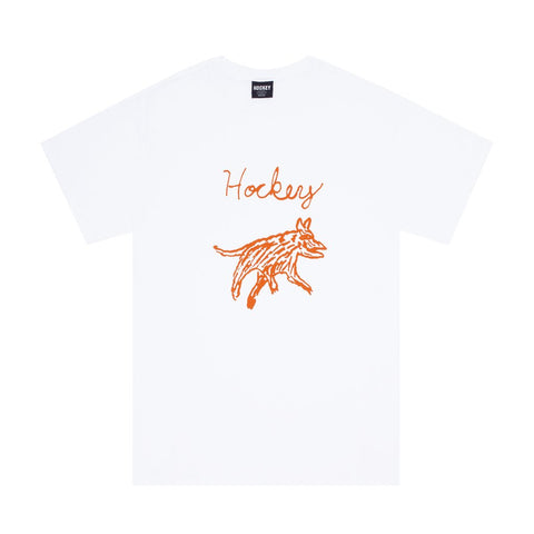 Hockey Dog tee white
