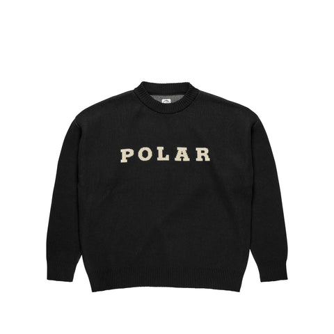 Polar Knit Jumper Black - Front