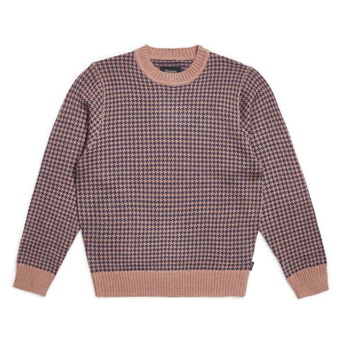 Brixton Wes Sweater Mauve/Washed Navy
