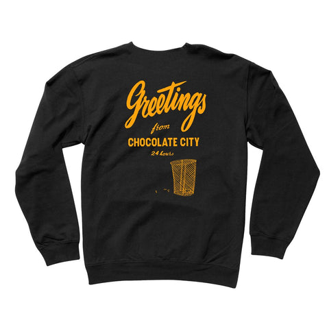 Chocolate Skateboards Greetings Crew Black - Back