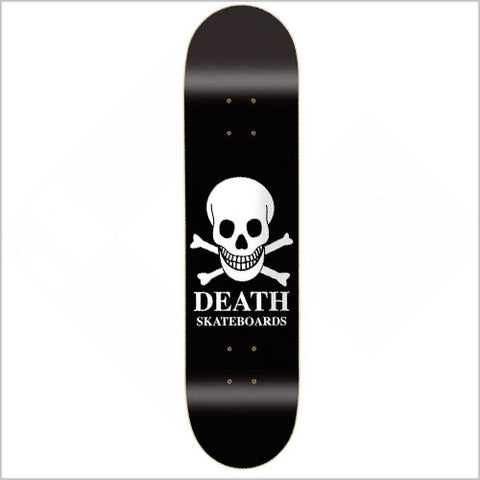 Death OG Skull Black Skateboard Deck