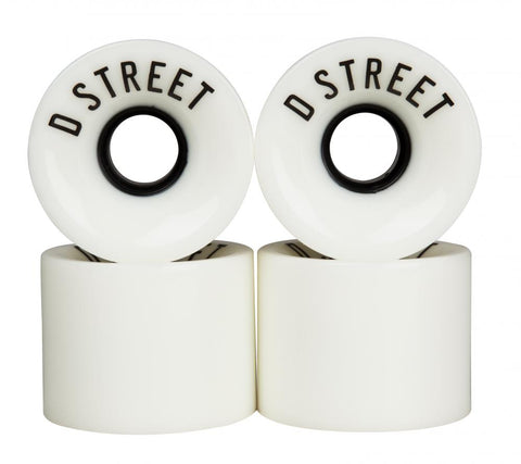 D-Street 59mm Cruiser wheels white