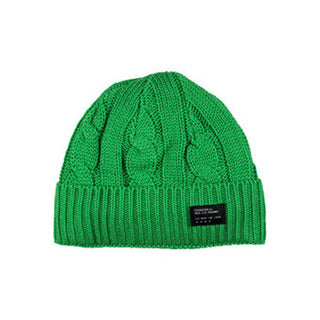 Four Star Cable knit fold beanie Kelly