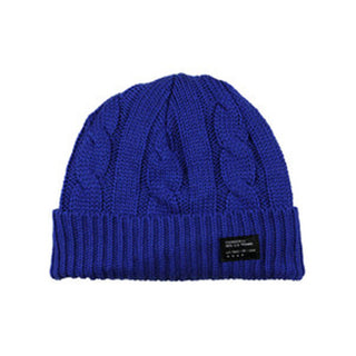 Four Star Cable knit fold beanie Royal