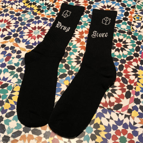 Drug Store Chomsky Socks white