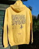 Drug Store Radiate Peace hoody yellow