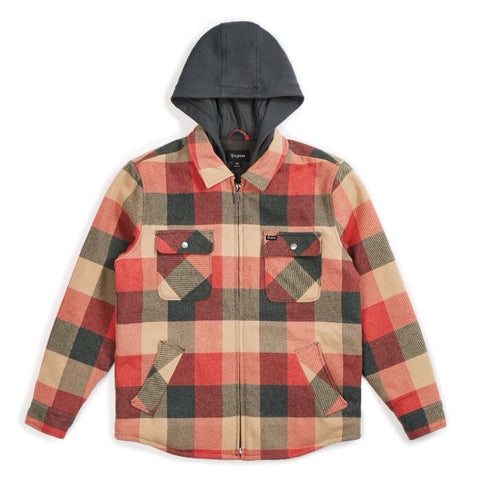 Brixton Bowery Jacket Plaid Black/Red