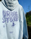 Drug Store Radiate Peace hoody blue