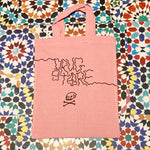 Drug Store mini tote pink wiggly logo
