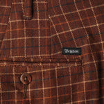 Brixton Regent Trousers Brown Plaid