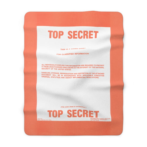 Top Secret Sherpa Fleece Blanket