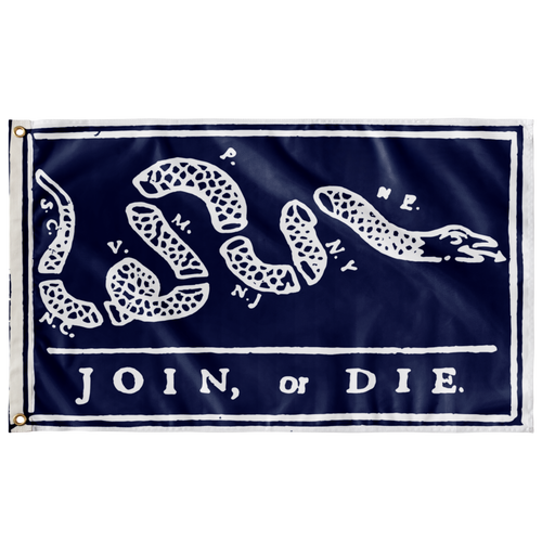 Join or Die Flag on Delft Blue