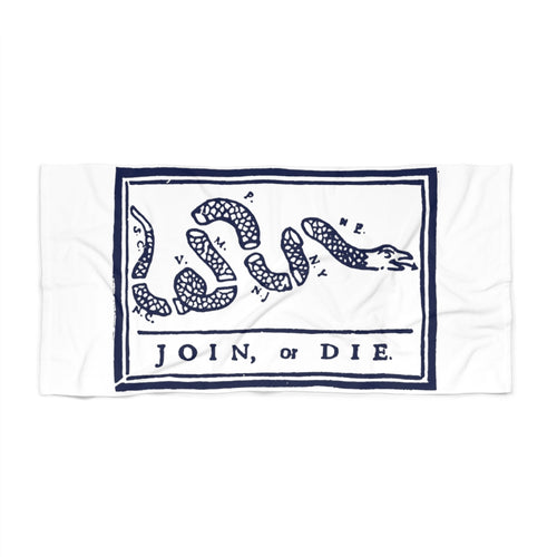 Join or Die Beach Towel