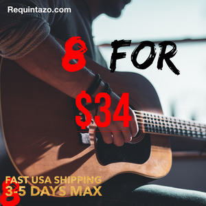 8 Packs for $34 - Requintazo 6 String Packs - Como Tocar Chingon