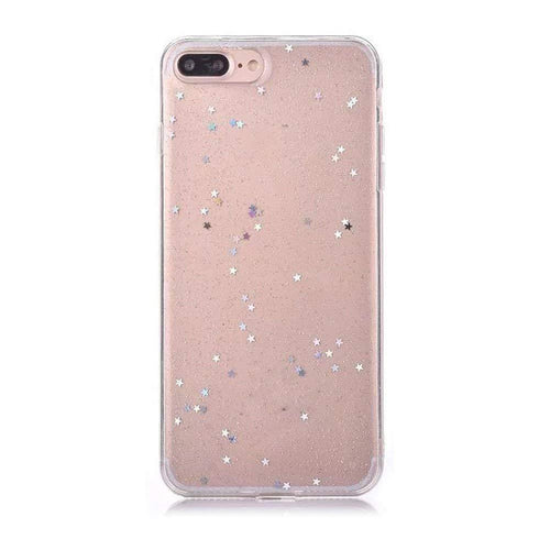 Iphone 7 Plus Case Luxury Glitter Star Transparent - Trijen
