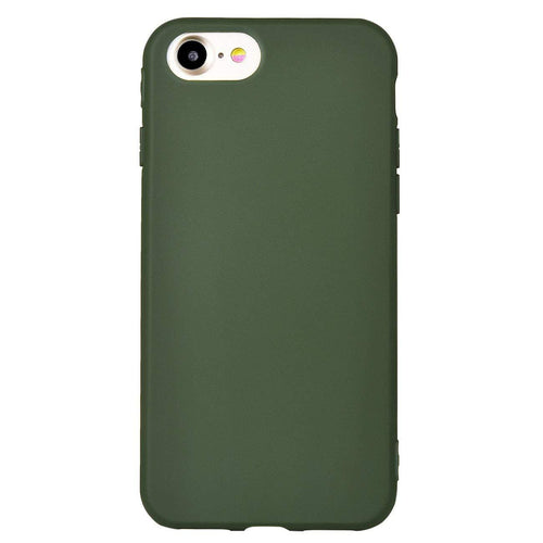 Iphone 7 Plus Case Soft Tpu Matte Cover Case (Dark Green) - Trijen