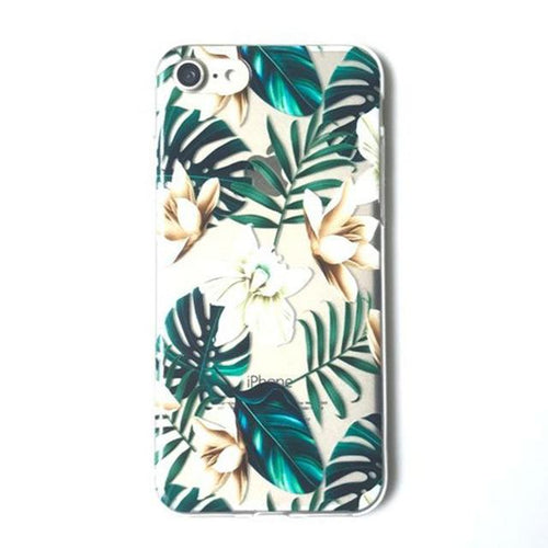 iPhone 7Plus, Tropical Palm Banana Leaves Case