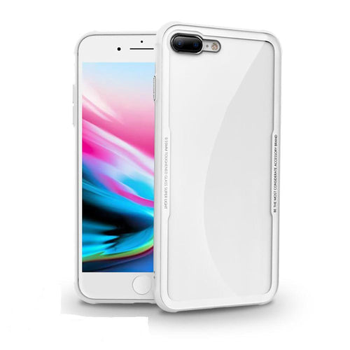 Iphone 8 Plus Case Silicone Transparent Tempered Glass - Trijen