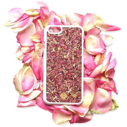 iPhone 8 Plus Case, Handcrafted Organika Roses
