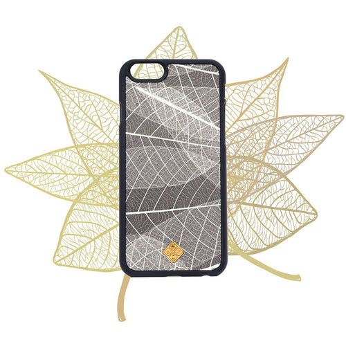 iPhone 7 Plus Case, Handcrafted Organika Skeleton Leaves